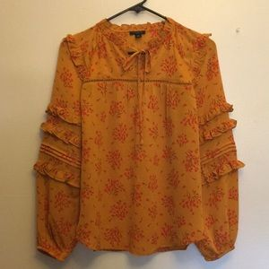 Ann Taylor L/S Pullover Blouse Size XSP
